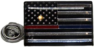 ALBATROS USA American Thin Red Blue Line 1st Reponders Bike Motorcycle Hat Cap Lapel Pin for Home and Parades, Official Party, All Weather Indoors Outdoors