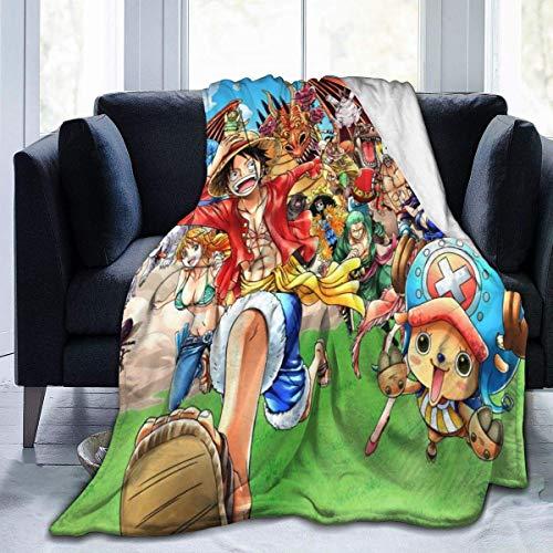 NR Anime - Manta de microfibra para disfraz de piratas de una pieza, manta de forro polar, ultra suave, funda de cama de coral para dormitorio, sala de estar, sofá, sofá de 203 x 152 cm