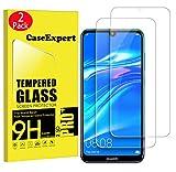 CaseExpert 2 Pack - Huawei Y7 Prime 2019 / Y7 Pro 2019 Protector de Pantalla, Transparente Cristal 9H Cristal Templado Glass Protector de Pantalla para Huawei Y7 Prime 2019 / Y7 Pro 2019 / Y7 2019