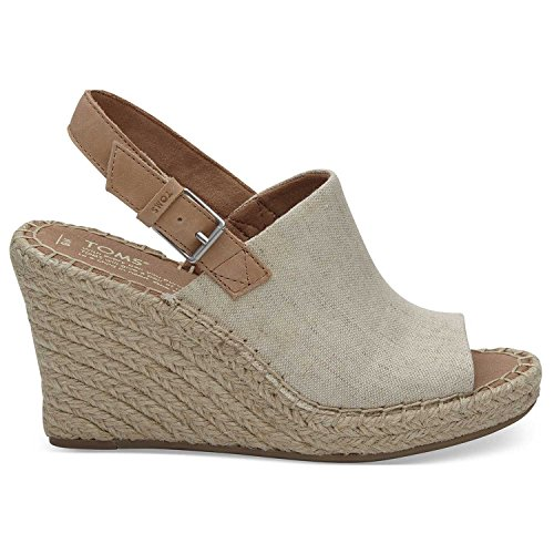 TOMS Natural Oxford Women's Monica Wedges (Size: 6.5)