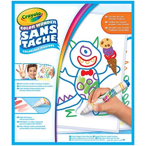 Crayola Color Wonder 75-2479-E-000 - Recarga de Hojas Blancas, Colorear sin manchar