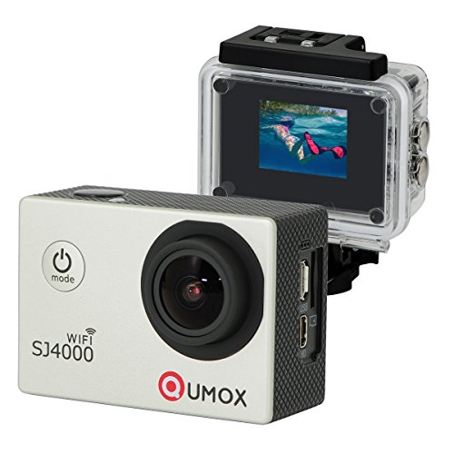 QUMOX WIFI SJ4000 Camera Argento azione Sport Cam Waterproof Full HD 1080p 720p Video Helmet Cam con cassa impermeabile