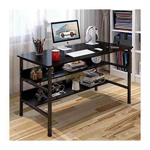 HENGTONGTONGXUN Escritorio de la computadora de escritorio Combinación casero plegable Vector Y Silla de escritorio Estantería Dormitorio Easy to use (Size : E)
