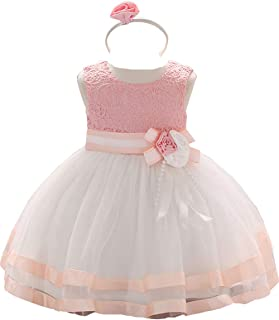 c69abc74796 Baby Girl Dresses Ruffle Lace Pageant Party Wedding Flower Girl Dress