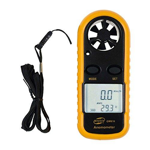 BENETECH 風速計 デジタル 防水 高精度 小型 風力計 温度計搭載 温度計 風速計測 風量計 風 テスター ポケットアネモメーター 簡易操作 ミニ風速計 GM816