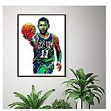 Carteles e impresiones modernos abstractos de Kyrie Irving Cuadros de arte de pared para sala de estar Decoración del hogar Boston Celtics Lienzo Pintura-50x70cm Sin marco