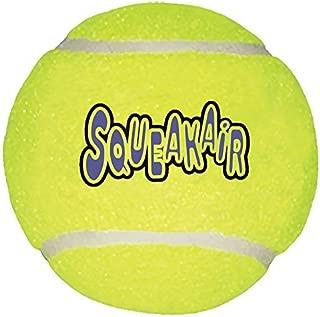 KONG Air Dog Squeakair Tennis Ball Dog Toy, Large, Yellow (2 Pack)
