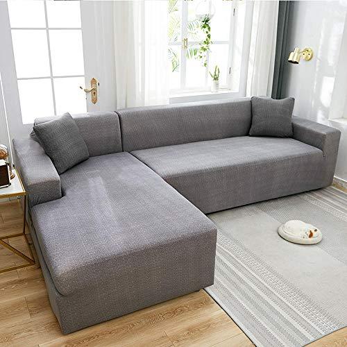 JRKJ Sofabezug Für Sofa,Elastische Sofabezug Für Wohnzimmer-Eckbezüge Sofabezüge Stretch All-Inclusive-Couchbezug L-Förmige Stuhlbezug 1/2/3/4-B_2Pc_Pillowcase