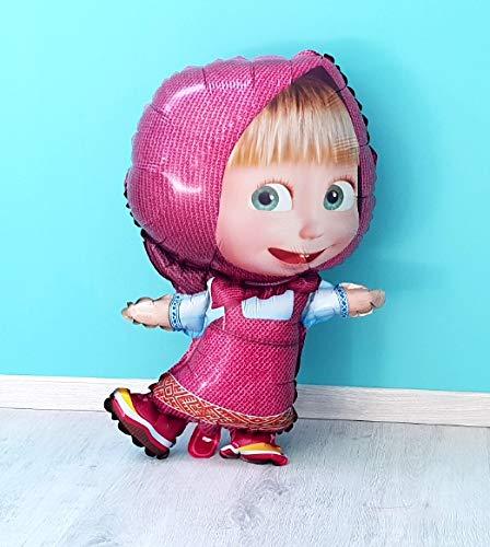 MaschaFolienballon Kindergeburtstag 73x52cm XL Ballon Geburtstag Mascha-Charakter-Folien-Ballon - Kinderparty-Ballone Mascha und der Bär