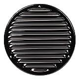 Ø 200mm Schwarz Lüftungsgitter mit Insektenschutz Rund Metall Gitter Außenmaß: 240mm