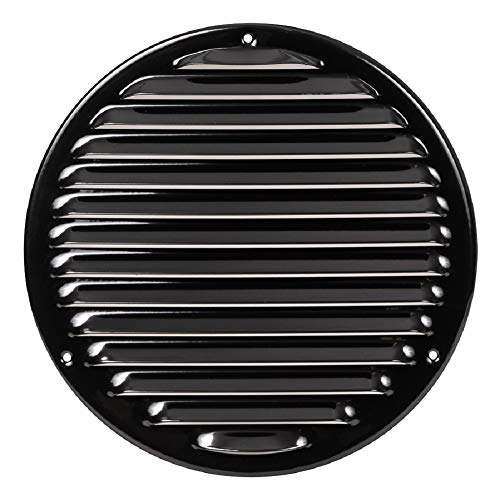 Ø 240mm / 9.4 inch BlackCircular Air Vent Grille Cover - Ventilation Grill Cover Metal with Insect Protection