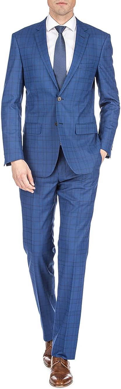 Braveman Gino Vitale Men's Harrogate Windowpane Slim Fit 2PC Suits