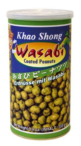 [ 6x 350g ] KHAO SHONG Erdnüsse mit Wasabi überzogen / Wasabi coated Peanuts