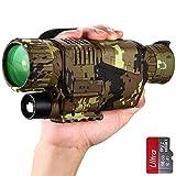 SUNTEKCAM Monoculaire Vision Nocturne, Télescope Infrarouge Numérique Rechargeable 8X40 pour Adulte 1,5' LCD Photo/Vidéo Enregistrement Surveillance de Sécurité