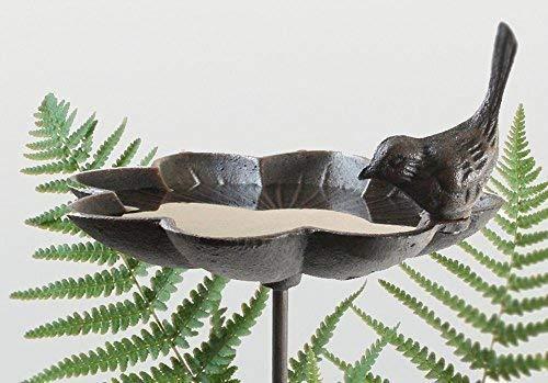 Nostalgie Bain D'Oiseaux avec Piquet, Antique Bain pour Oiseaux, Fonte Maroon