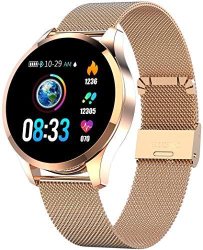 Naack Smartwatch mit Herzfrequenz-Monitor, Herzfrequenz, Damen, Herren, Kinder, Sport, Smartwatch, Erinnerungsnachrichten, Fitness-Tracker für Android iOS