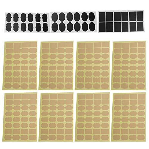 292 piezas de etiquetas adhesivas de marcado, etiquetas adhesivas de identificación para llaves con múltiples formas para cajas de vidrio, tarros, macetas