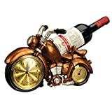 LL-COEUR Motocarro Soporte Botella de Vino Decorativo Botellero Vino Original Artesanía 32 x 17 x 18 cm