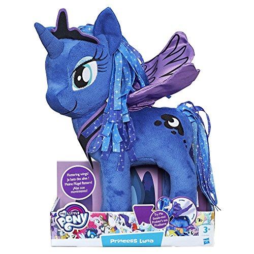 Hasbro My Little Pony Friendship Is Magic Princess Luna Feature Knuffel Met Vleugels - Juguetes de peluche (Unicornio, Multicolor, Felpa, 3 año(s), My Little Pony (animated film), Princess Luna)