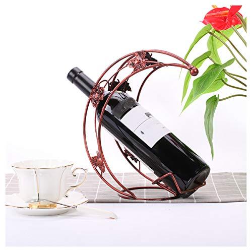 Wijnrek Decoratie Creatieve Wijnkoeler Bar Woonkamer TV Kast Bruin Wijnrek Draagbare Wijnfles Houder Metalen Wijn Disply Stand voor Bars Glad Home Decoratie