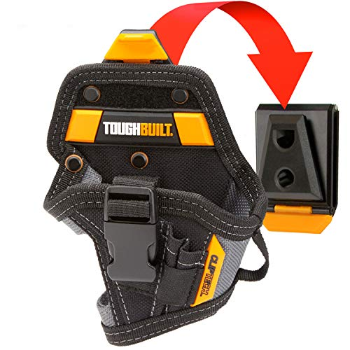 ToughBuilt - ClipTech Drill Holster - Compact/Small Drill Holster with 5 Pocckets and Loops, Drill Bit Pocket and Carabiner Loops- (TB-CT-20-S)