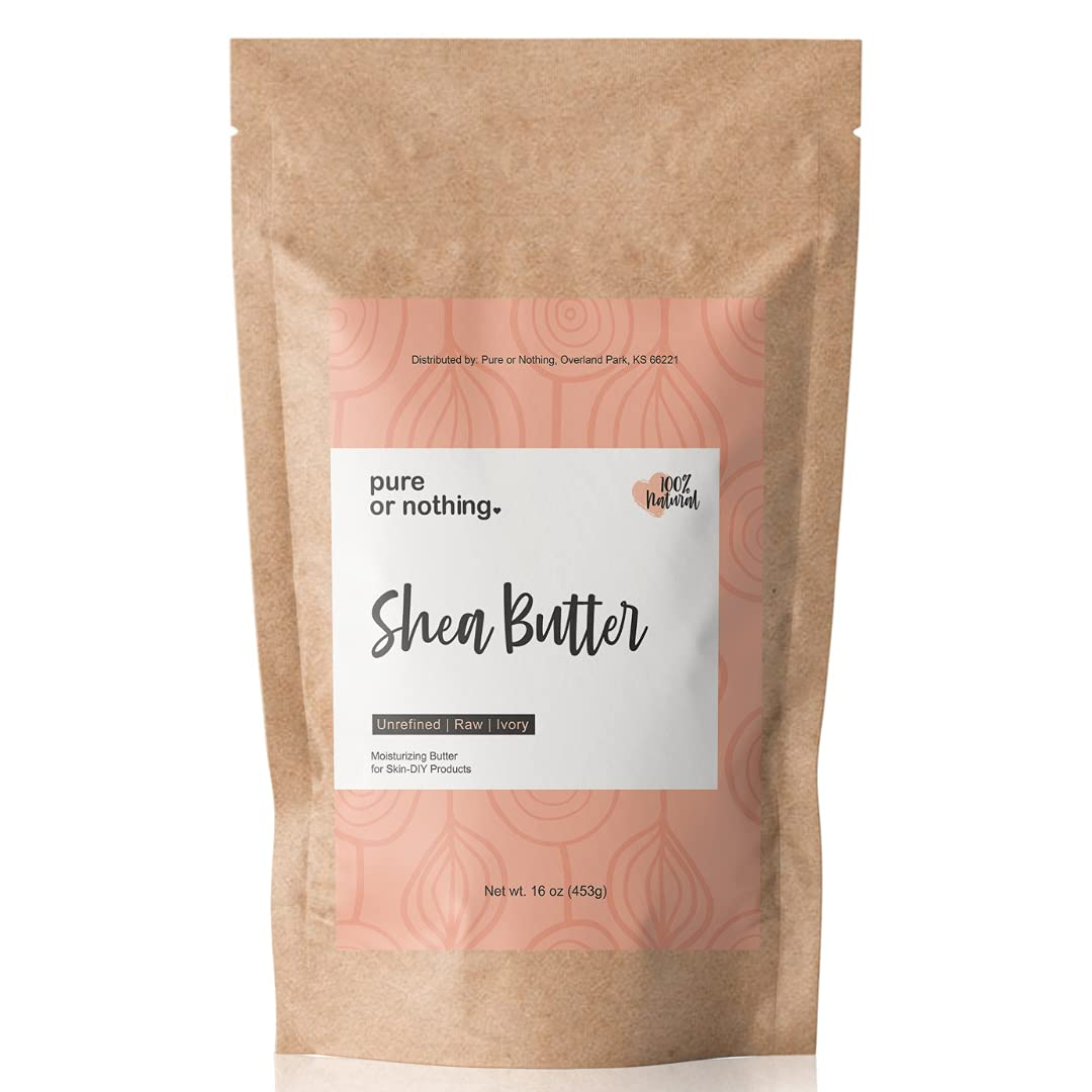 Pure or Nothing Unrefined Shea 16 Raw 100% Butter oz Safety Superior and trust