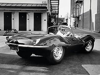 """Time Life """"Steve McQueen Jaguar"""" Canvas Print, Cotton, Multi-Colour, 3.20 x 60.00 x 80.00 cm"""