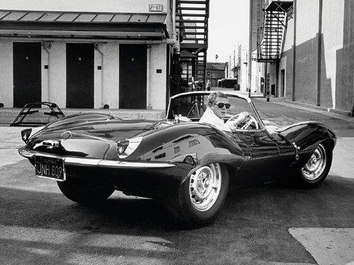Time Life - Poster Steve McQueen con Jaguar, 60 x 80 cm