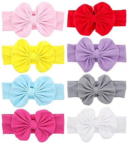 Baby Girl's Headbands and Bows for Newborn Infant Toddler Photographic Accessories (4.5 inches)
