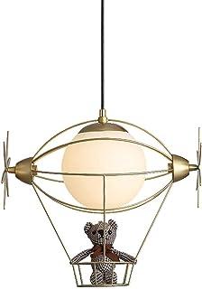Mopoq Gold Modern Children's Room Pendant Light Boy/Girl Bedroom Height Adjustable Hanging Lamp Creative Hot Air Balloon M...