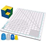 3Dmate Starter - Transparent 3D Pen Mat 9 x 7 Inches - Flexible Two-Sided Heat-Resistant Silicone - 3D Pen Accessories Compatible with Stencils - STEM Activity for Kids, Adults - 4 Finger Protectors
