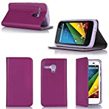 XEPTIO Etui Motorola Moto G 4G/LTE Violet 8 Go Ultra Slim Cuir Style avec Stand -...
