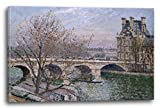 Printed Paintings Leinwand (60x40cm): Camille Pissarro - Pont Royal and The Pavillon De Flore