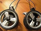 Peg Perego Double Roue arrière Noir pour poussette Pliko P3complet à partir de 2007–2010