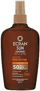 Ecran Sun Lemon, Filtro solar corporal (Aceite, F 50) - 200 ml.