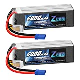 Zeee 5S Lipo Battery 18.5V 50C 6000mAh RC Battery with EC5 Plug for RC Airplane Outrage Fusion 50 RC Helicopter RC Car Truck RC Boat