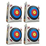 Morrell Weatherproof Supreme Range Adult Field Point Archery Bag Target with NASP Scoring Rings, Nucleus Center, and IFS Technology (4 Pack)