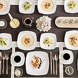 MALACASA Serie Julia, Tafelservice 30-teilig Kombiservice Porzellan Geschirrset mit je 6 Kaffeetassen, 6 Untertassen, 6 Kuchenteller, 6 Suppenteller und 6 Flachteller Kaffeeservice für 6 Personen - 5
