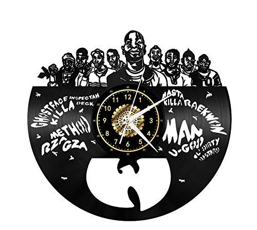 Wall clock Vinyl Record Wanduhr, Mickey Mouse Vintage Clock LED hängende Nachttischlampe 7 Farbe Wanduhr, Cartoon Uhr Disney-Geschenke Geburtstags-Geschenke handgemachte Hauptwanddekor, A, mit Licht,