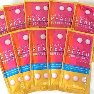 エントリッシュ フルーツバブルバス ピーチの香り 10包セット