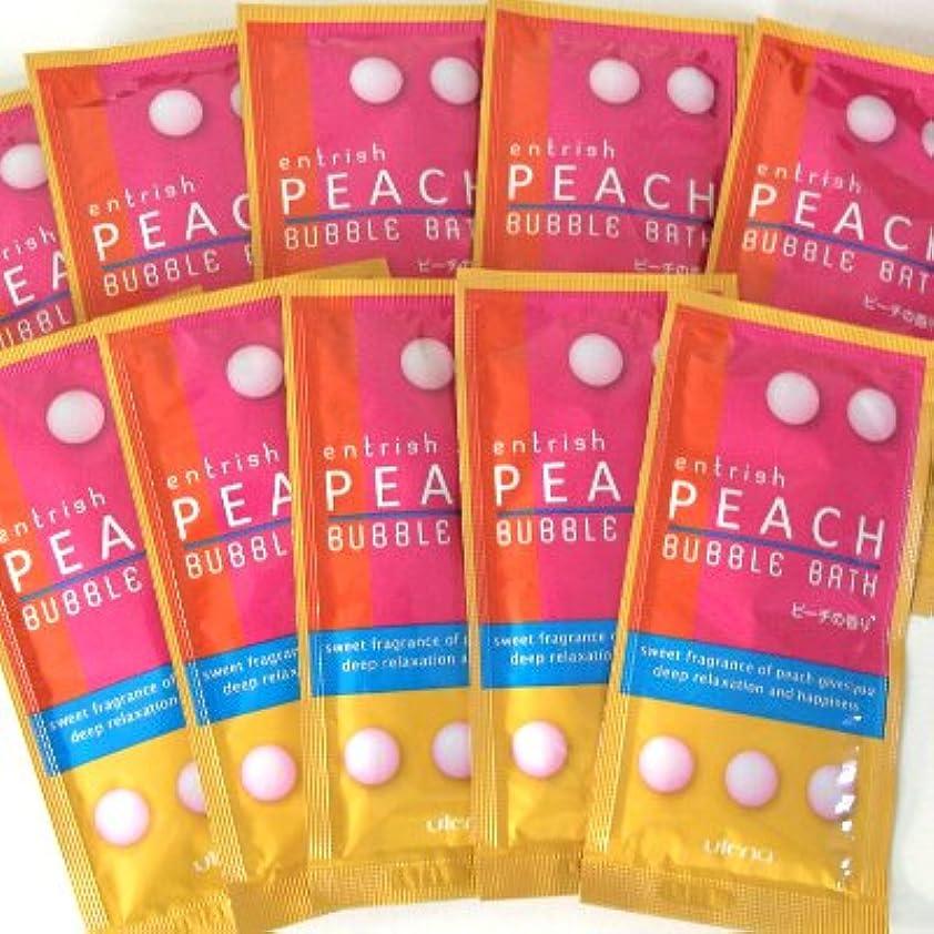 なだめる強化する芝生エントリッシュ フルーツバブルバス ピーチの香り 10包セット