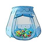 HSM Kinder Bällebad Spielzelt Spielhaus Spielhaus inkl. 100 Bälle / Blau oder Pink (Blau)