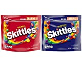 Delicious Hard Candy, Skittles Bundle of 2 Favorite Flavors - Original and Darkside, Packed in a Sharing Size Resealable Bag, Ideal for Parties, Game-Time Snacks, Pantry or Toppings on your Dessert