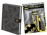 Juego de papelería de Batman de lujo - Cuaderno A5 DC Batman - 11 piezas Papelería Set