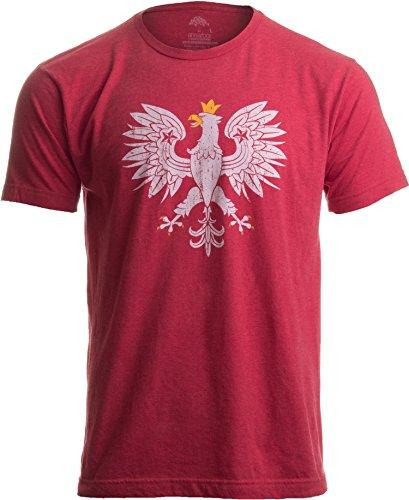 Poland Pride | Vintage Style, Retro-Feel Polish Eagle Polska Unisex T-Shirt-Adult,S Heather Red