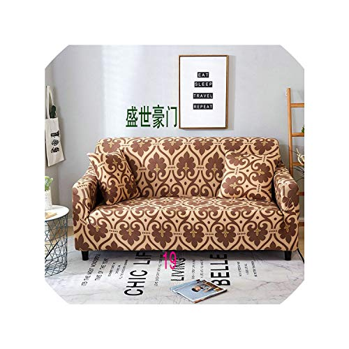 Suzanne Betty Funda de sofá elástica de 1/2/3/4 plazas, de poliéster, moderna, funda protectora para sofá de esquina, para sala de estar, 19,45-45-2 fundas de almohada