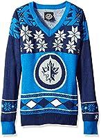 Winnipeg Jets Womens Big Logo V-Neck Sweater Large