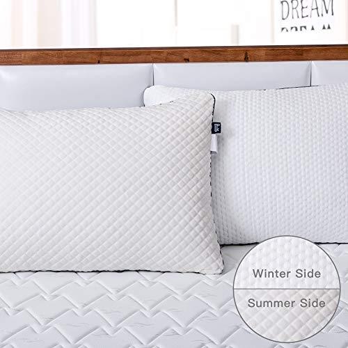 BedStory Pack de 2 Almohadas y Funda Desmontable con Cierre de Cremallera con Doble Lados Invierno/Verano, Almohada 70x42 cm con Relleno 3D y 7D Fibra, Almohadas Antiácaros para de Cama Hotel