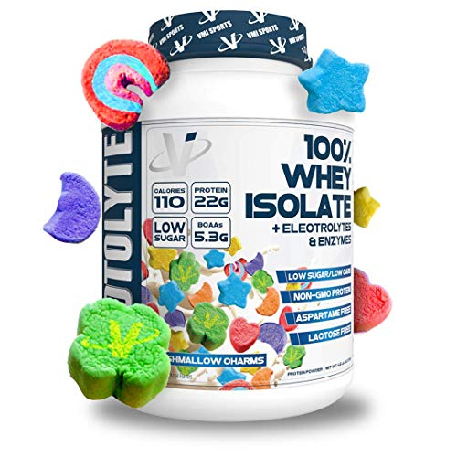 VMI Sports | Protolyte Whey Isolate Protein Powder | Low-Calorie Whey Protein Powder for Weight Loss | Protein Powder for Muscle Gain | Non-GMO (Marshmallow Charms, 4.6 Pounds)