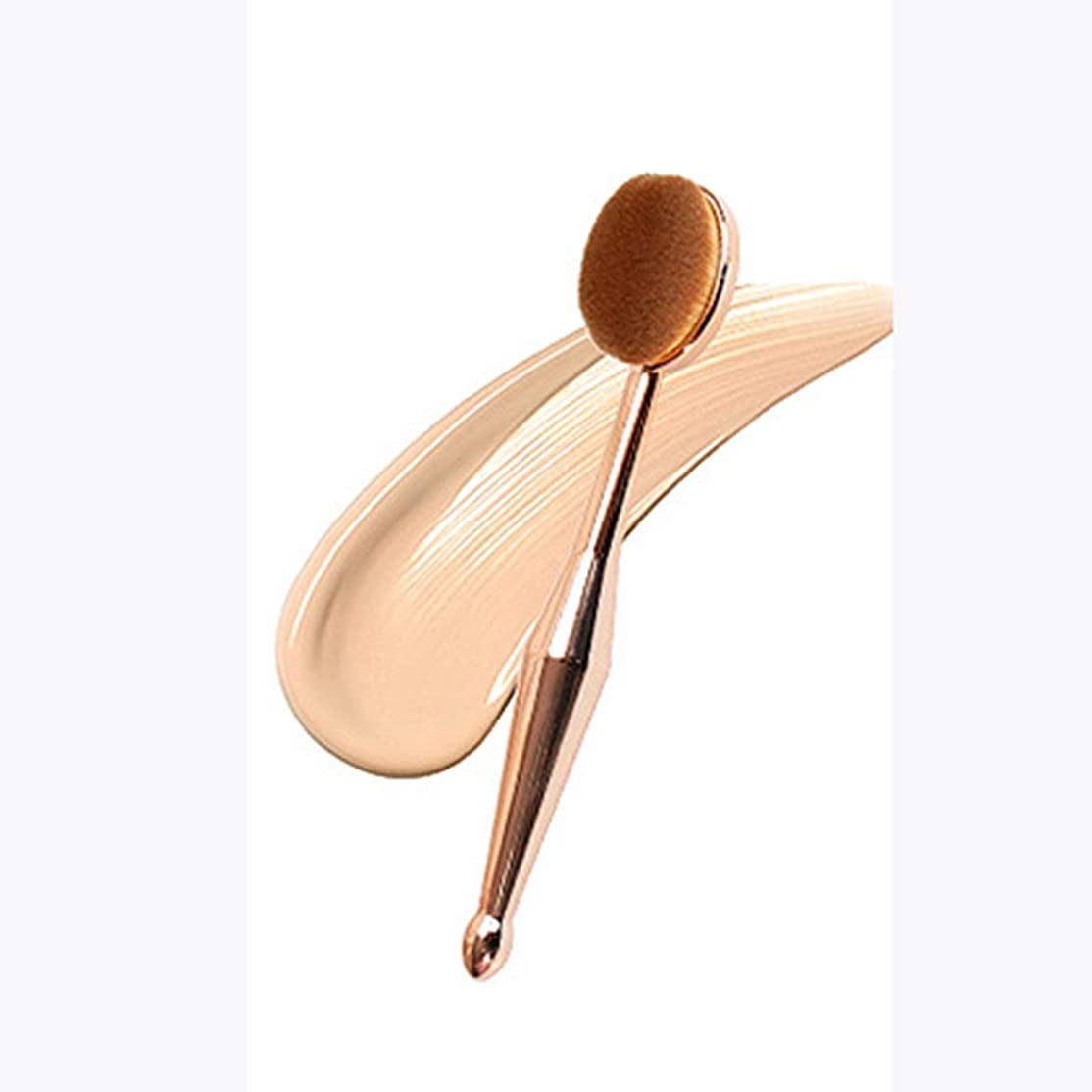 記者代表するシードIntercoreyの歯ブラシの形の基礎ブラシの女性はツールを作りますふたが付いている化粧品のブラシは基礎ブラシツールを作ります
